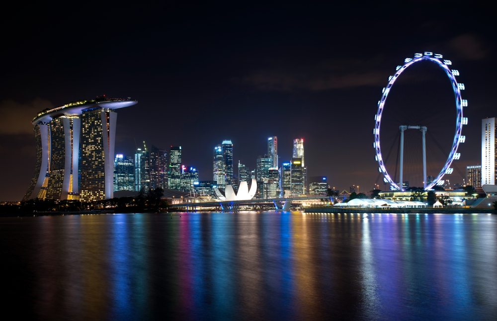 Singapore Skyline at Night