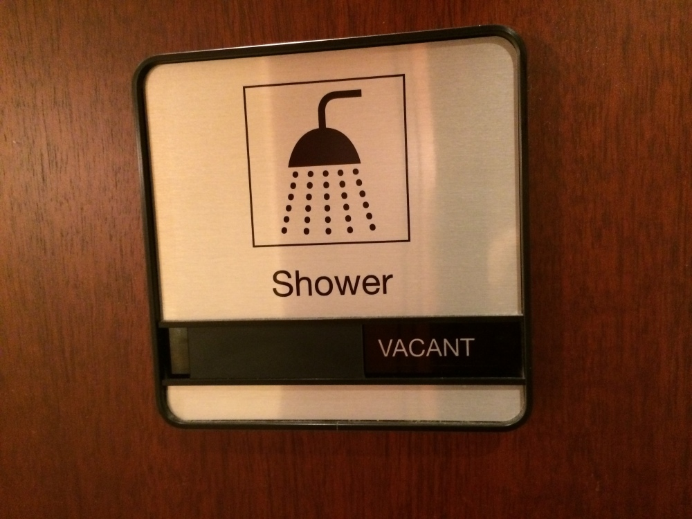 Shower in the United Club