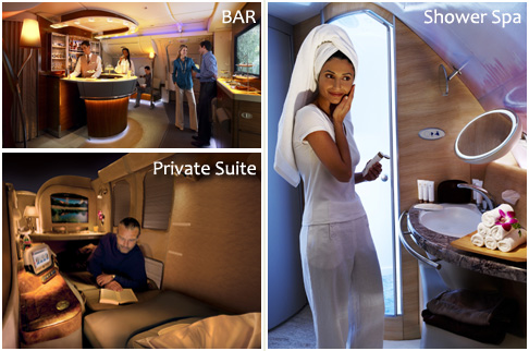 Private enclosed Suites, On board showers and bars!