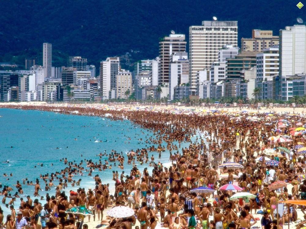 Beautiful beaches in Sao Paulo, Brazil.