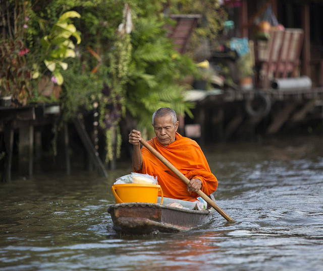 Bangkok Monk - Photo credit: Christopher Michel under Creative Commons (https://flic.kr/p/dayCwR)